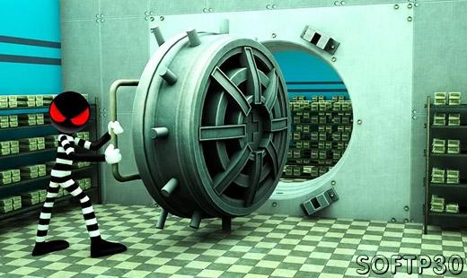 دانلود Stickman Bank Robbery Escape