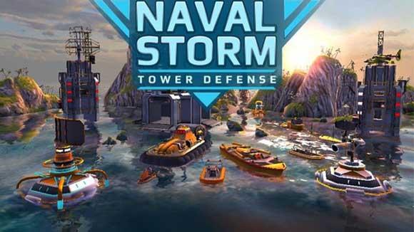 دانلود بازی اندروید Naval Storm TD v0.5 بازی دریای طوفانی اندروید